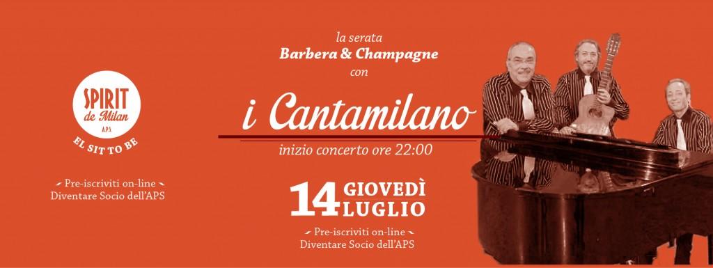 Barbera champagne i cantamilano 14 07 spirit de milan for Spirit de milan aperitivo
