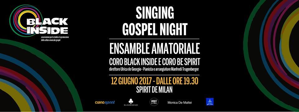 Black inside singig gospel night spirit de milan for Spirit de milan aperitivo