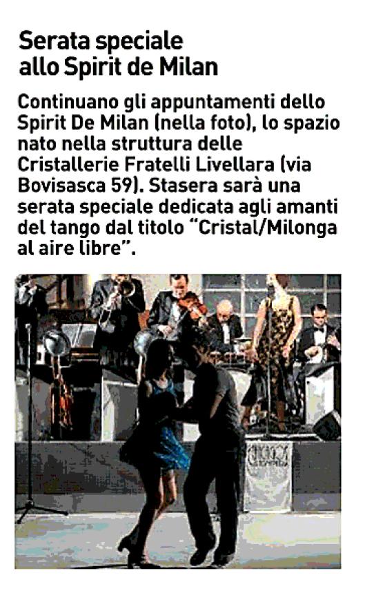 Serata speciale allo Spirit de Milan 14/06